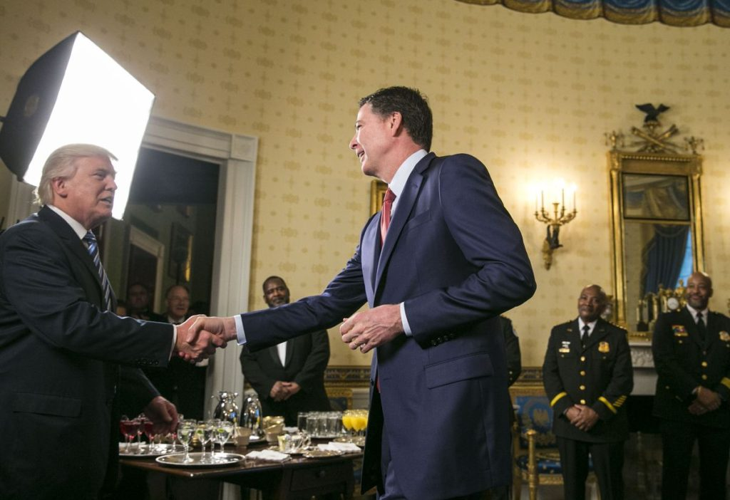 Donald Tump and James Comey